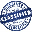 Stock Photo: Classified stamp