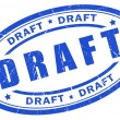 Draft stamp — Foto de Stock