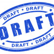 Draft stamp — Stockfoto