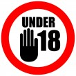 Under eighteen sign — Stock Photo #11358889