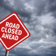 Road closed ahead - Stock Photo