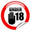 Stock Photo: Under eighteen sign