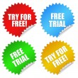Stock Photo: Free trial stickers