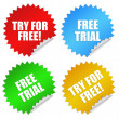 Free trial stickers — Stock Photo