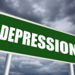 Depression sign — Stock Photo