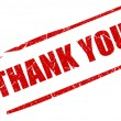 Thank you stamp — Stock Photo #11389770