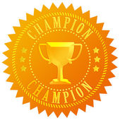 Champion gold seal — Stock Photo