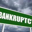 Stock Photo: Bankruptcy sign
