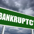 Bankruptcy sign — Stock Photo