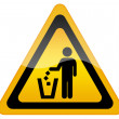 Stock Photo: No littering, keep clean sign