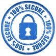 100 secure stamp — Stock Photo