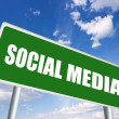 Social media sign — Stock Photo