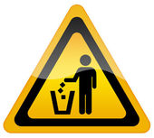 No littering, keep clean sign — Stock Photo