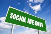 Social-media-zeichen — Stockfoto