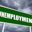Unemployment sign — Stock Photo