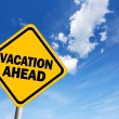 Vacation ahead — Stock Photo