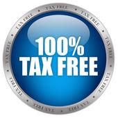 Icono libre de impuestos — Foto de Stock