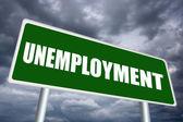 Unemployment sign — Stock Photo