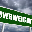 Overweight sign — Stock Photo