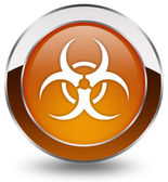 Biohazard button — Stock Photo