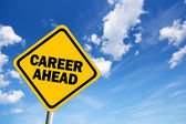 Career ahead sign — Stock Photo