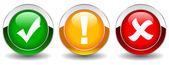 Vector security buttons set — Stock Vector