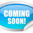 Coming soon sticker - Stock Photo