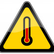 High temperature warning sign - Stock Photo