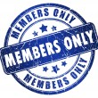 Members only stamp — Stock Photo