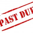 Past due stamp - Stock Photo