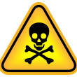 Skull danger sign - Stock Photo