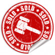 Sold sticker — Stock Photo