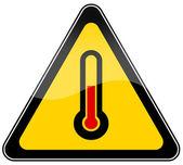High temperature warning sign — Stock Photo