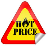 Hot price sign — 图库照片