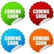 Vector coming soon stickers - Stock Vector