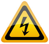 Vector high voltage sign — Stock Vector