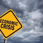 Economic crisis sign — Stock Photo