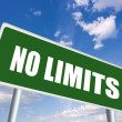 Stock Photo: No limits road sign