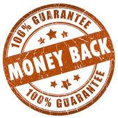 Money back stamp — Stock Photo