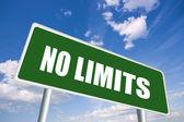 No limits road sign — Stock Photo