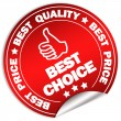 Best choice label — Stock Photo