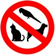 No animals sign — Stock Photo