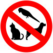 Stock Photo: No animals sign