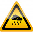 Stock Photo: Rainy weather sign
