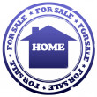 Home for sale stamp — Stock Photo