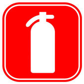 Fire extinguisher sign — Stock Photo