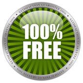 100 free icon — Stock Photo