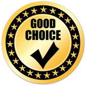 Good choice sticker — Stock Photo