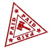 Paid grunge stamp — Stock Photo