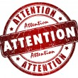Attention stamp — Stock Photo #12011658
